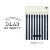 D.LAB(16000)皮革卡夹Design line card holder-蓝白条纹1707