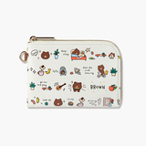 line friends(19500)日常款皮质折角卡包零钱包 card pocket daily(